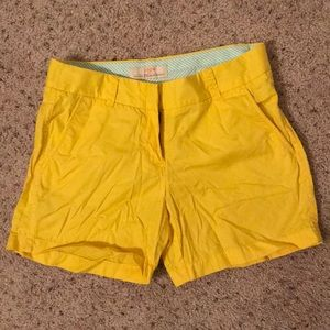 J Crew Factory Size 2 Yellow Chino Shorts